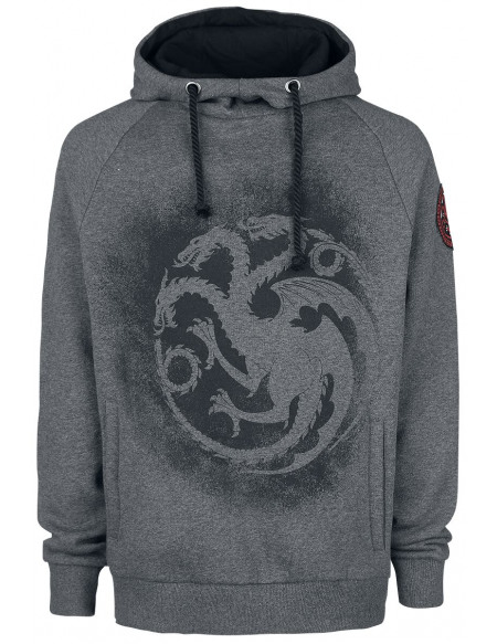 Game Of Thrones Targaryen Sweat à capuche gris chiné