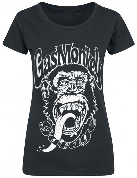 Gas Monkey Garage Logo T-shirt Femme noir