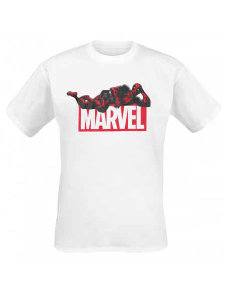 Deadpool Logo Marvel & Deadpool T-shirt blanc