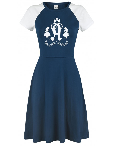 Alice Au Pays Des Merveilles Classic College Robe bleu marine/blanc
