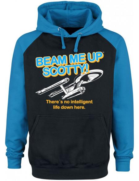 Star Trek Beam Me Up Scotty Sweat à capuche noir/bleu