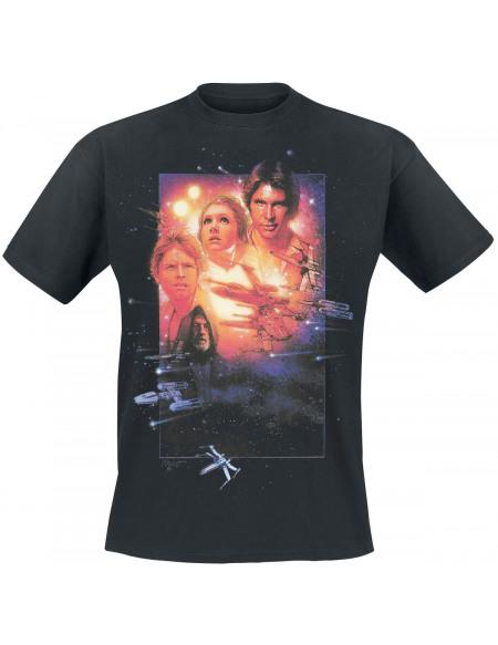 Star Wars Episode 4 - A New Hope T-shirt noir