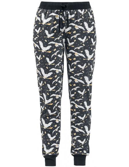 Harry Potter Hedwige Bas de pyjama noir
