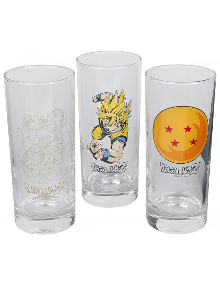 Dragon Ball Goku, Dragon Ball, Shenlong Set verres multicolore