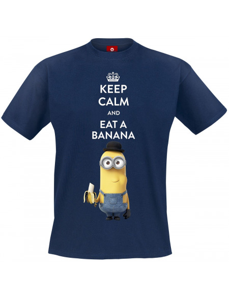 Les Minions Keep Calm And Eat A Banana T-shirt marine