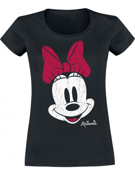 Mickey & Minnie Mouse Minnie T-shirt Femme noir