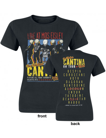 Star Wars Cantina Band On Tour T-shirt Femme noir