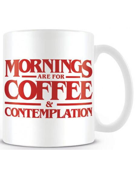 Stranger Things Coffee and Contemplation Mug blanc