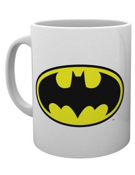 Batman Logo Mug blanc