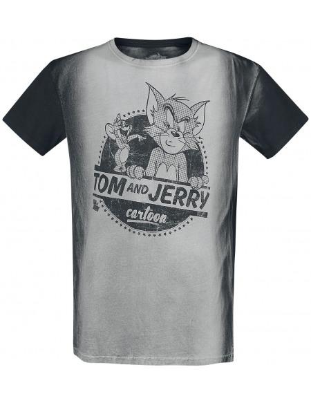 Tom & Jerry Cartoon Tom & Jerry T-shirt gris/noir