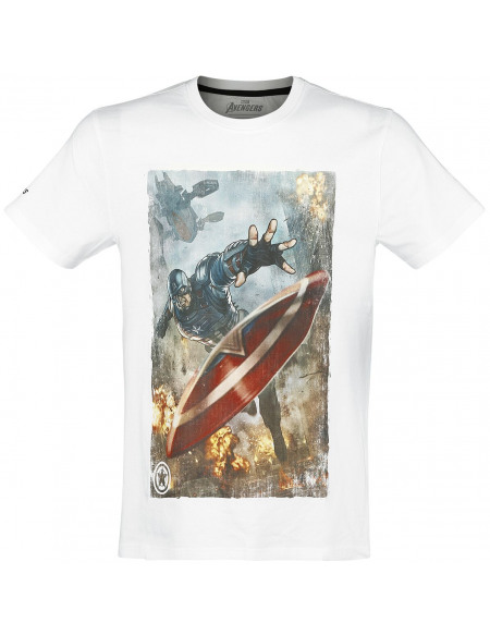 Avengers The Game - Captain America T-shirt blanc