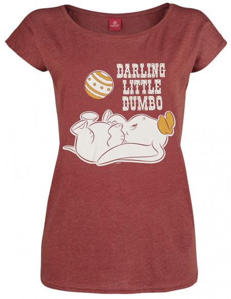 Dumbo Darling Little Dumbo T-shirt Femme rouge chiné