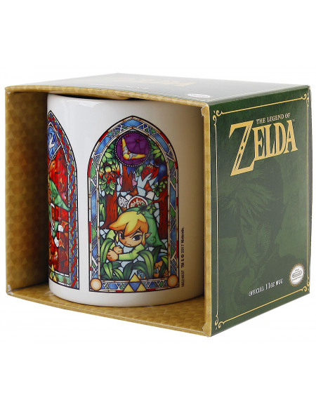 The Legend Of Zelda Vitraux Mug blanc