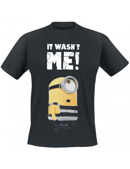 Les Minions It Wasn´t Me T-shirt noir