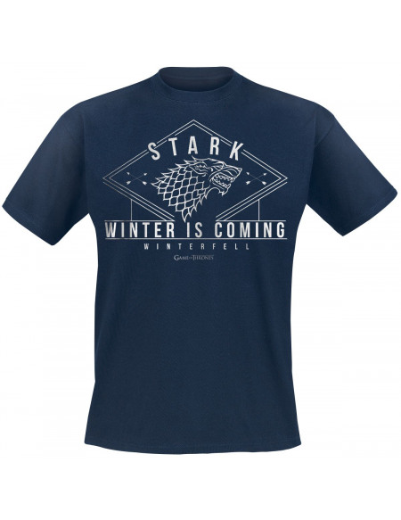 Game Of Thrones Stark - Winter Is Coming T-shirt marine