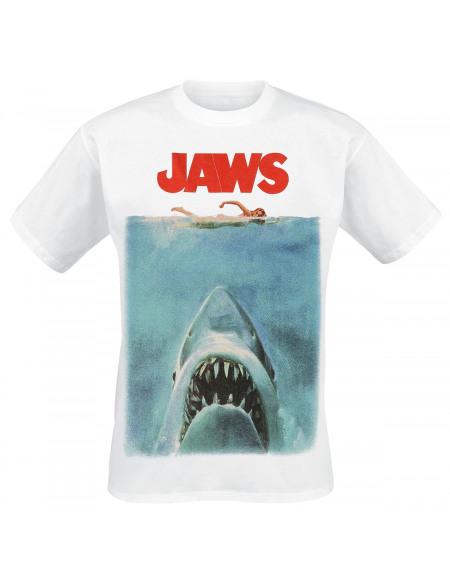 Jaws Poster T-shirt blanc