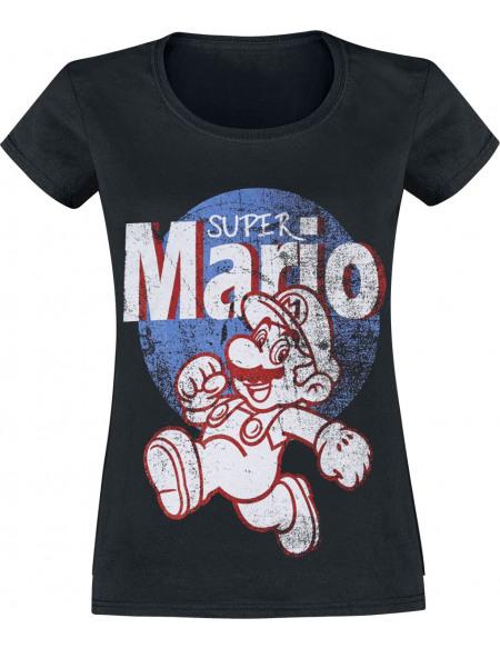 Super Mario It's A Me T-shirt Femme noir