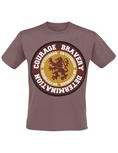 Harry Potter Gryffindor - Courage T-shirt bordeaux
