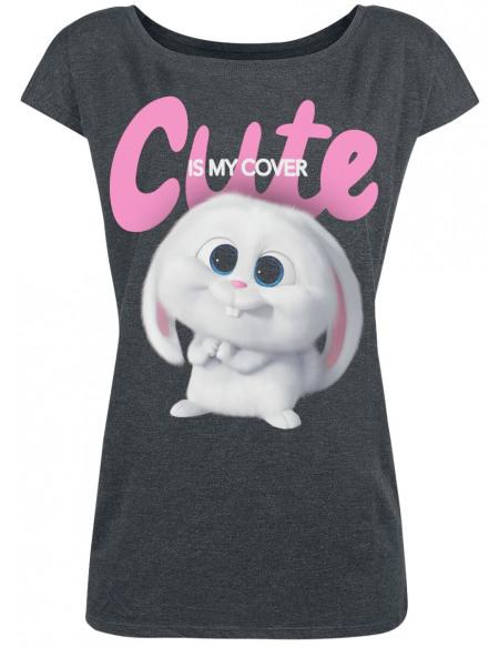 Comme Des Bêtes 2 - Snowball - Cute Is My Cover T-shirt Femme gris sombre chiné