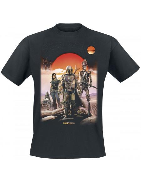 Star Wars The Mandalorian - Warriors Of Mandalore T-shirt noir