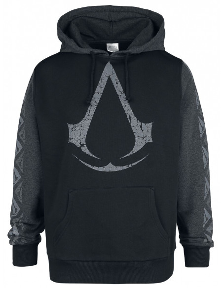Assassin's Creed Logo Sweat à capuche noir/gris foncé
