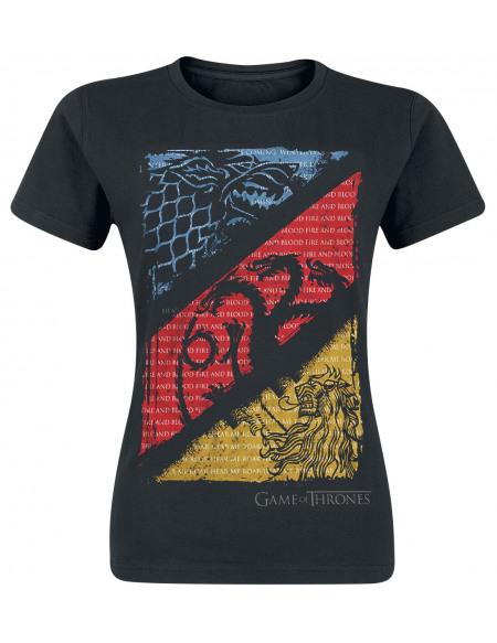 Game Of Thrones Maisons T-shirt Femme noir