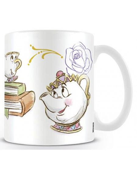 La Belle Et La Bête Zip Mug multicolore