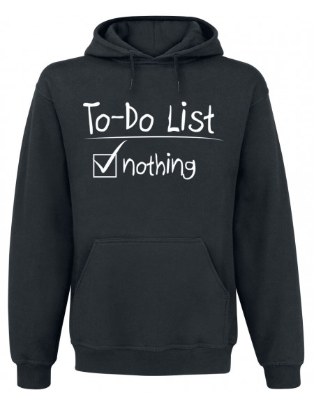 To-Do List Sweat à capuche noir