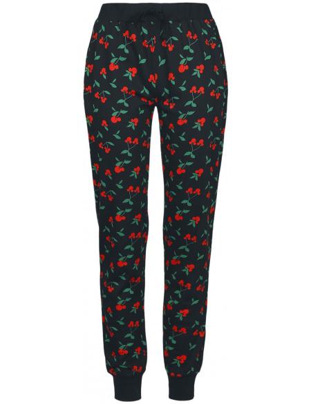 Mickey & Minnie Mouse Cerises Souris Bas de pyjama noir