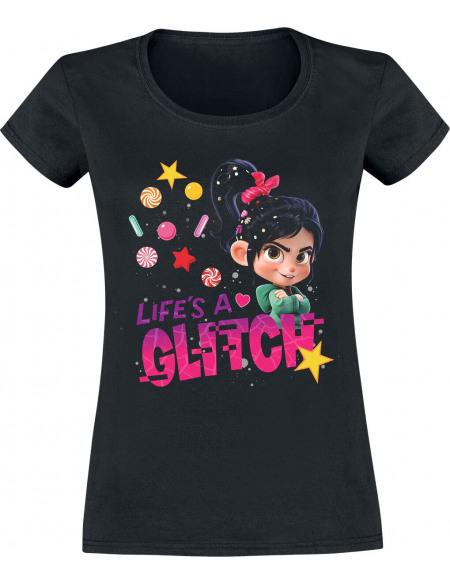 Les Mondes De Ralph Ralph 2.0 - Life's A Glitch T-shirt Femme noir