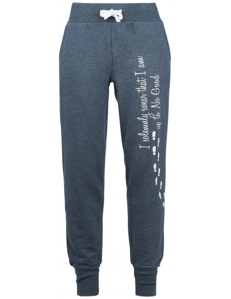 Harry Potter I Solemnly Swear Pantalon de Survêtement Femme bleu chiné