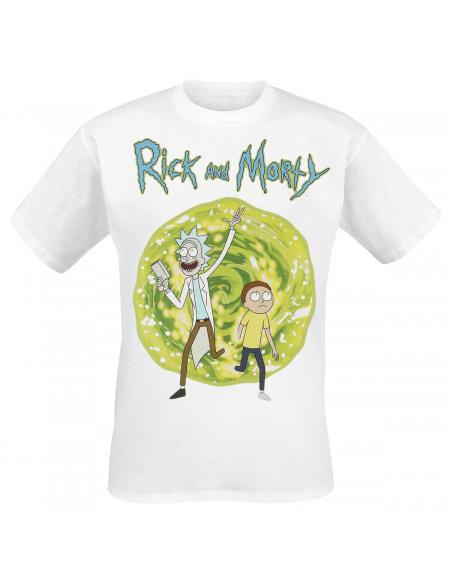 Rick & Morty Portail T-shirt blanc
