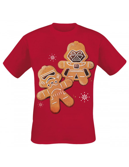 Star Wars Christmas Cookies T-shirt rouge