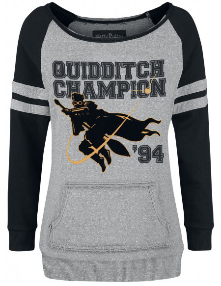 Harry Potter Quidditch Champion Sweat-shirt Femme gris/noir