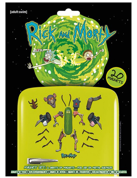 Rick & Morty Weaponize The Pickle Magnette frigo multicolore