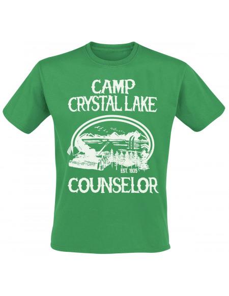 Vendredi 13 Camp Crystal Lake Counselor T-shirt vert