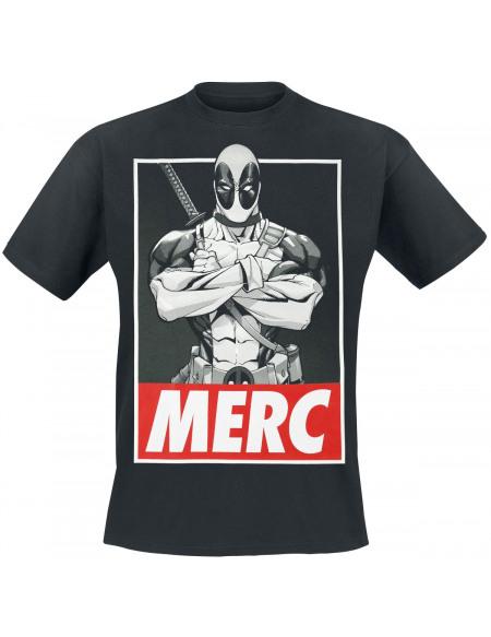Deadpool Merc T-shirt noir