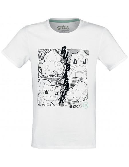 Pokémon Bulbizarre - Manga T-shirt blanc