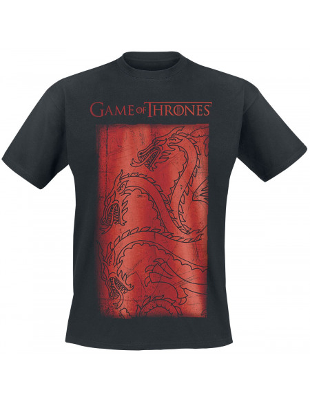 Game Of Thrones Targaryen Dragon T-shirt noir