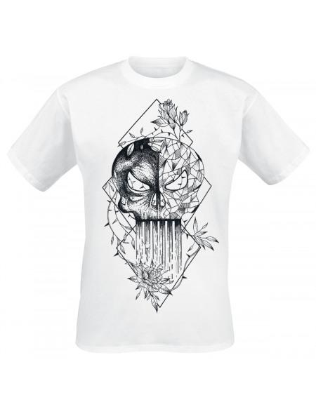 The Punisher Grafiti Skull T-shirt blanc