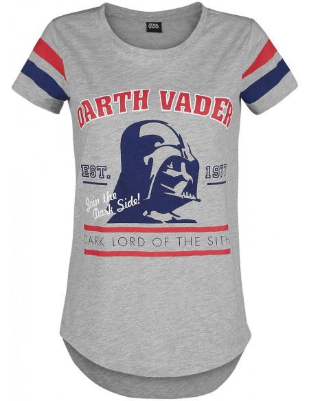 Star Wars Dark Vador - Dark Lord T-shirt Femme gris chiné
