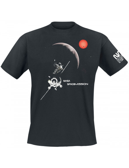 NASA Space Mission T-shirt noir