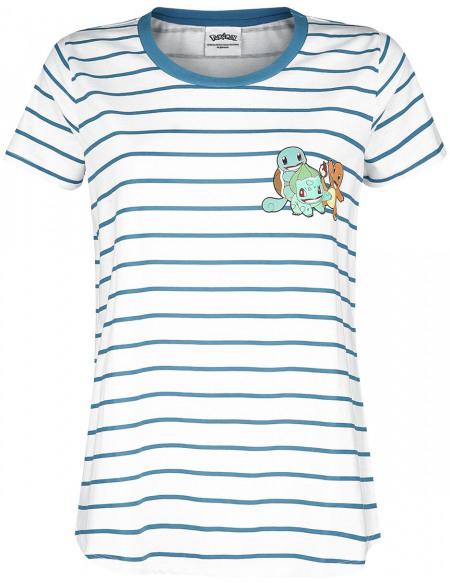 Pokémon Groupe T-shirt Femme blanc/bleu