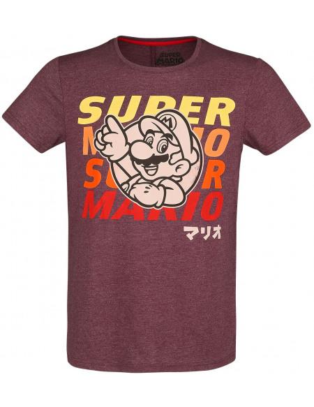 Super Mario Mario T-shirt rouge chiné