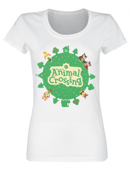 Animal Crossing Welcome To T-shirt Femme blanc