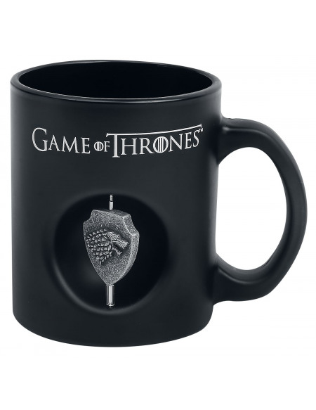 Game Of Thrones Maison De Stark - Mug Avec Spinner Mug noir