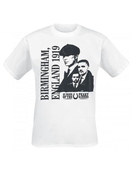 Peaky Blinders England 1919 T-shirt blanc