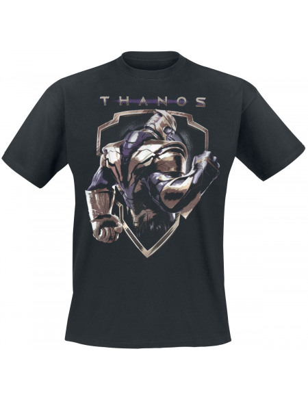 Avengers Endgame - Badge Thanos T-shirt noir