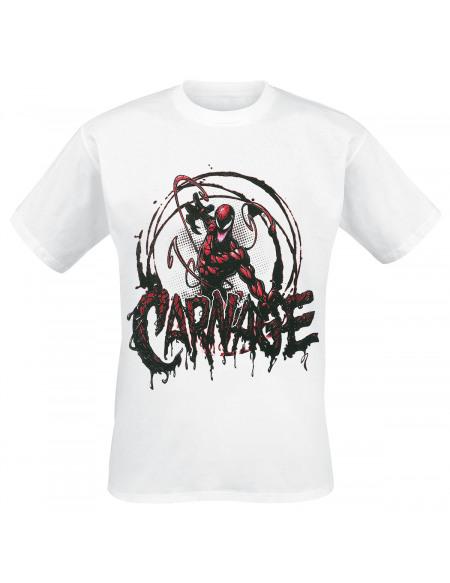 Spider-Man Carnage T-shirt blanc