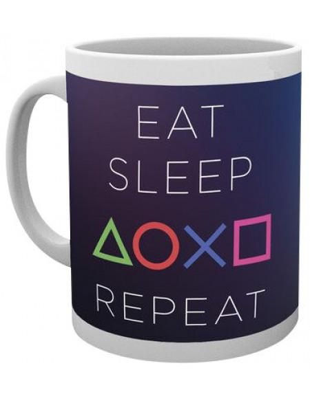 Playstation Eat Sleep Repeat Mug blanc